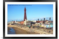 blackpool tower, Framed Mounted Print