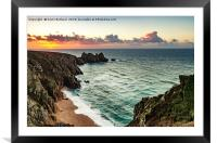 porthcurno cornwall, Framed Mounted Print