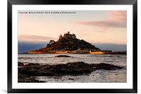 st.michaels mount cornwall, Framed Mounted Print