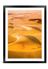 Sand Dunes, Framed Mounted Print
