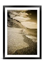 Beach at Sidmouth, Framed Mounted Print