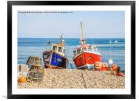Fishing Boats, Framed Mounted Print