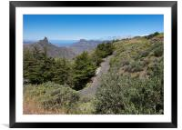 Winding Road In The Canary Islands, Framed Mounted Print