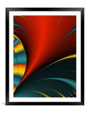 Abstract Feather Close-up, Framed Mounted Print