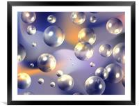 Abstract Bubbles, Framed Mounted Print