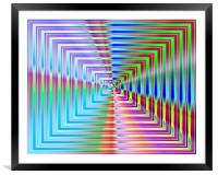 Abstract Light & Shade Rectangles, Framed Mounted Print