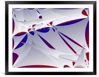 Abstract Sails in Wind, Framed Mounted Print