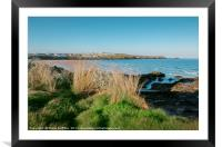 Fistral beach from outside the Headland Hotel, Framed Mounted Print
