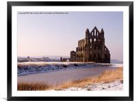 Whitby Abbey Winter, Framed Mounted Print