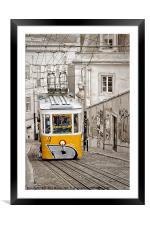 The Gloria Elevator, Lisbon., Framed Mounted Print