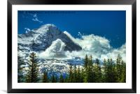 North Face of The Eiger, Framed Mounted Print