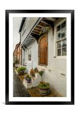 Interesting doorway in St Albans, England., Framed Mounted Print