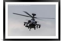 Army Air Corps Apache AH1 facing the camera, Framed Mounted Print