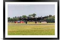 Avro Lancaster landing at RAF Fairford, Framed Mounted Print