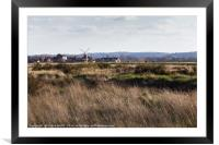 Cley windmill landscape, Framed Mounted Print