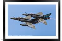 Mirage 2000D pair Couteau Delta, Framed Mounted Print