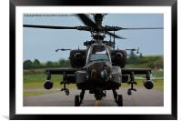 Apache nose on, Framed Mounted Print