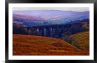 Denthead Viaduct. Yorkshire Dales, Framed Mounted Print