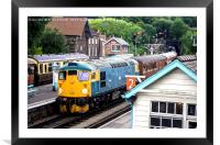 """Class 26 """"Tom Clift"""" Heritage Diesel Train, Framed Mounted Print"""