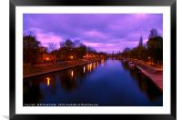 Sunrise over the River Ouse, York, Framed Mounted Print