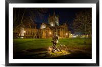 Elgar looking on Hereford Cathedral, Framed Mounted Print