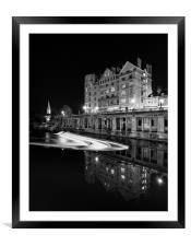 The Empire and weir, Grand Parade, Bath, Framed Mounted Print