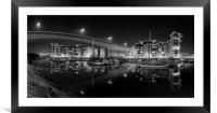 Victoria Wharf, Cardiff, Penarth , Framed Mounted Print