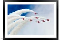 The Red Arrows over the Top, Framed Mounted Print