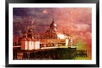Eastbourne Pier Textured experiment 1, Framed Mounted Print