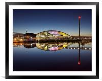 Glasgow science centre, Framed Mounted Print