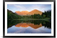 The very last of the light at Torren lochan, Framed Mounted Print