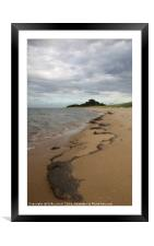 Patterns at East Hills, Wells next the Sea, Framed Mounted Print