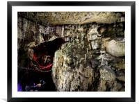 Christmas Time in the Cave, Framed Mounted Print