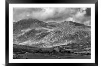 Mountains at Beara in mono. , Framed Mounted Print