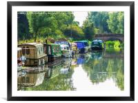 The Tranquil Chelmer and Blackwater Navigation, Framed Mounted Print