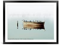 Resting On A Boat, Framed Mounted Print