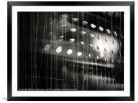 Bouncing Tones B&W, Framed Mounted Print