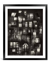 Views From Insides Bw, Framed Mounted Print