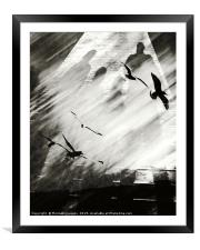 Outing Bw, Framed Mounted Print