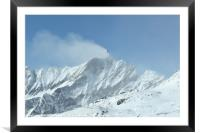 Wind Blowing Over Mountain Peaks, Framed Mounted Print
