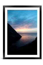 The Bay .., Framed Mounted Print