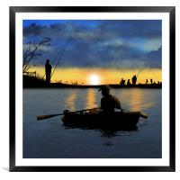 At The Weekend, Framed Mounted Print