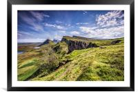 The Quiraing on the isle of Skye During the Daytim, Framed Mounted Print