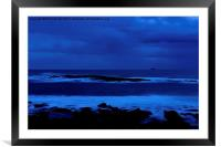 After Sunset Sennen Cove Cornwall , Framed Mounted Print