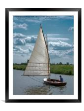 A Man and His Boat as one. , Framed Mounted Print