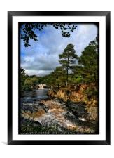 """""""Portrait of Low Force Waterfalls"""", Framed Mounted Print"""