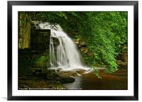 """The wedding cake waterfall"", Framed Mounted Print"