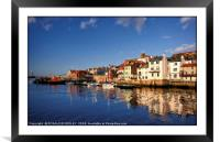 """""""Blue sky Reflections at Whitby"""", Framed Mounted Print"""