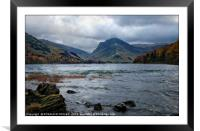 """""""Storm arrives at the lake"""", Framed Mounted Print"""