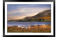 """Golden hour at Loweswater lake"", Framed Mounted Print"